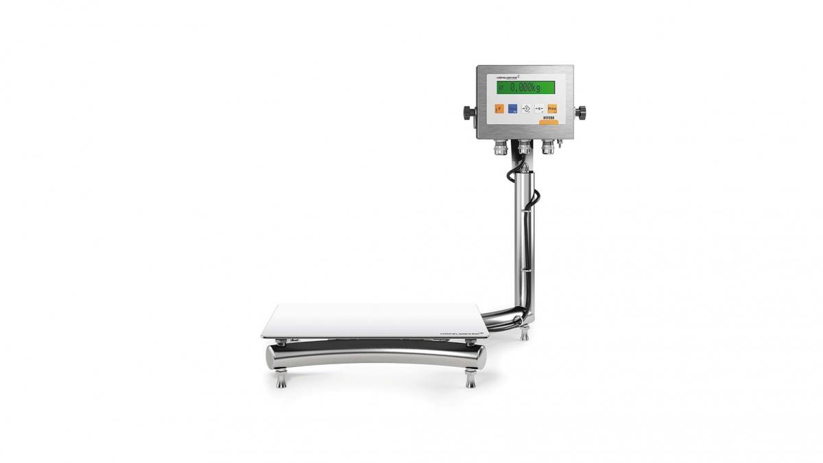 Freigestelltes 3D-Produktfoto/Rendering einer Hoefelmeyer Hygienewaage