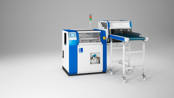 3D-Produktfoto Maschinen/Rendering einer Kolbus Falzniederhalte-Presse