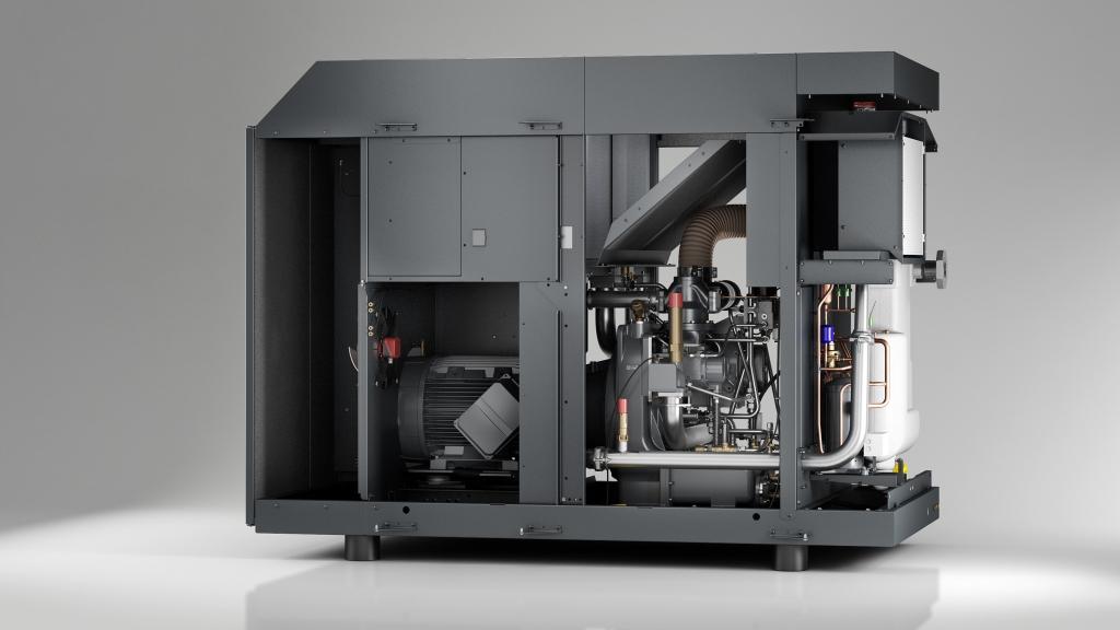 3D-Maschinen-Foto/Rendering eines Kaeser CSG Schrauben-Kompressors