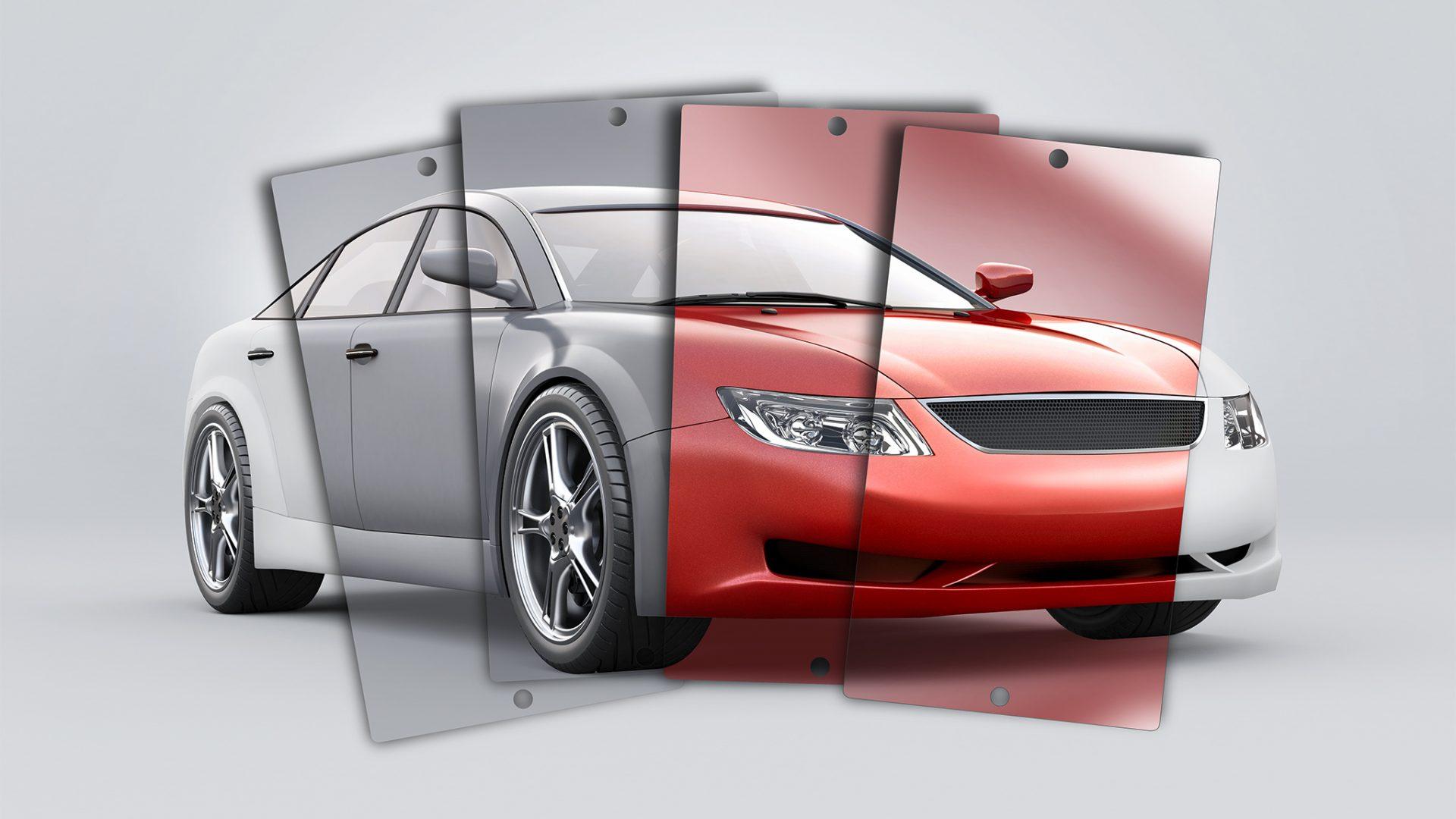 3D-Produktfoto/Rendering eines 3D-Autos