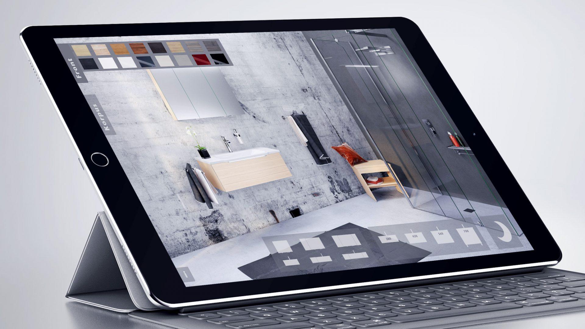 Interaktiver 3D-Möbel-Konfigurator für Creativbad