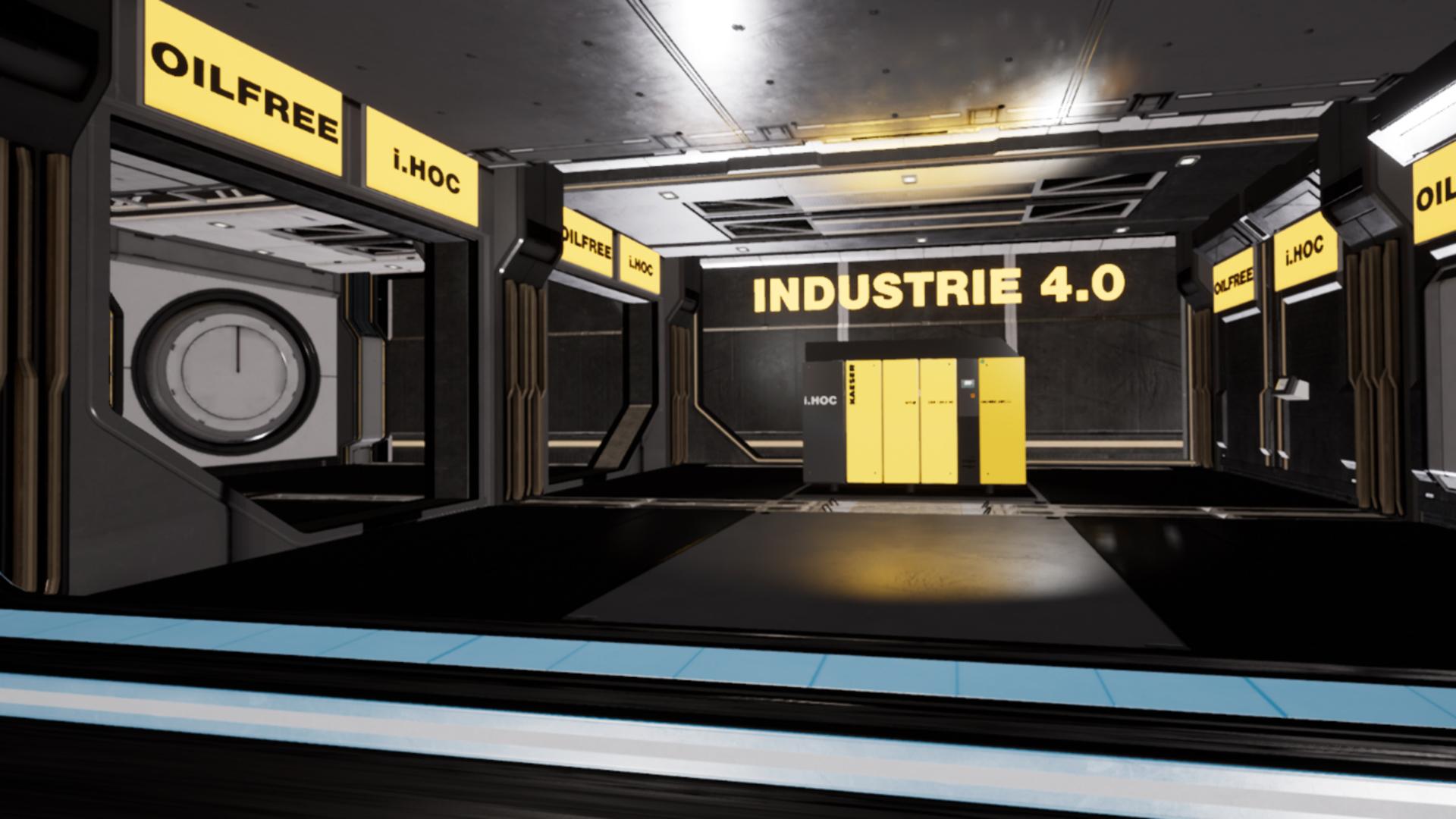 Screenshot aus einer 3D-interaktiven VR-Anwendung
