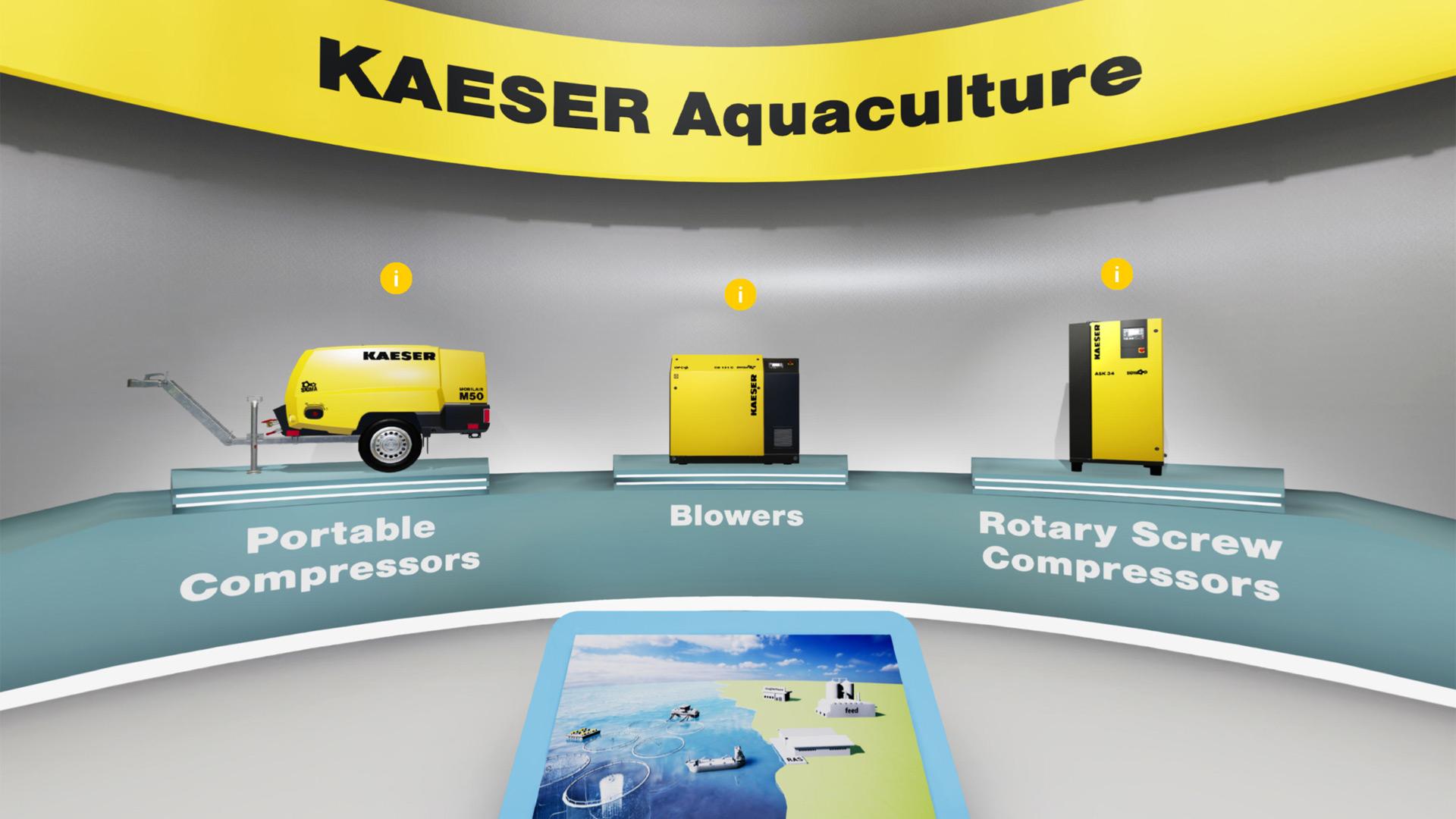 Kaeser Virtueller Messestand Aquakultur